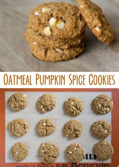 Here's a fun fall treat! These Oatmeal Pumpkin Spice Cookies are sure to be big hit in your home. They're the perfect way to usher in the new season! Whip up a double batch today.