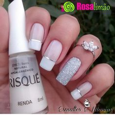 70 Eye-Catching and Fashion Acrylic Nails, Matte Nails, Glitter Nails Design You Should Try in Prom and Wedding that can help you out. We hope you like this collection. Diy Beauty Nails, Diy Nails, Matte Nails, Glitter Nails, Acrylic Nails, Diy Nail Designs, Diy Design, French Tip Nails, Fabulous Nails
