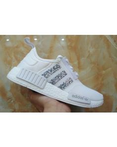 ab104d8dadb89 Adidas Originals NMD PK All White Glitter Sneakers Cheap Sneakers