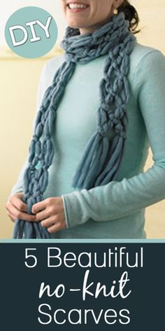 How To Make A No-Knit Scarf! |Pinned from PinTo for iPad|