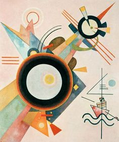 "Wassily Kandinsky - ""Image with Arrow"", 1928 abstract Abstract Expressionism, Abstract Art, Abstract Landscape, Kandinsky Art, Wassily Kandinsky Paintings, Vincent Van Gogh, Art And Architecture, Shapes, Drawings"