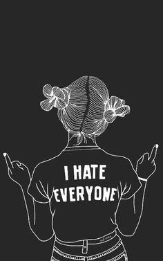 hate, outline, and tumblr resmi