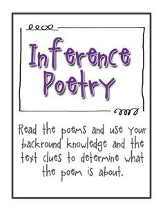 Making Inferences Through Poetry FREE!