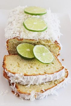Coconut Lime Pound Cake by thecomfortbookofcooking #Cake #Coconut #Lime