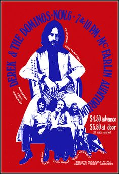 Rock and Roll Concert Posters | Eric Clapton Derek and the Dominos 1970 Dallas Concert Poster