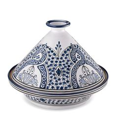 My herbed rice, couscous and quinoa dishes? Extraordinary.    Hand painted by a single artist, this earthenware dish can be used to cook and serve traditional North African tagines, as well as couscous and rice dishes. The cone-shaped cover funnels condensation directly back to the food for moist, tender results.