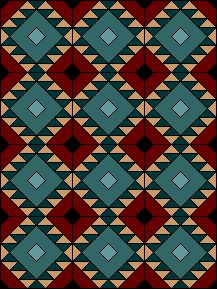 Zig Zag Block by EQuiltBlocks.Com. Native American inspired. PDF paper pieced quilt block pattern download at http://equiltblocks.com/other/Zig_Zag.gif.