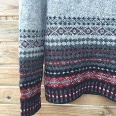 Blocked and beautiful. Seriously shetland wool has magic qualities. I stretched and squished to get it just right #amirisu #firstfairislesweater #2016yearofthesweater #i_loveknitting #knittersoftheworld #shetlandwool #stash_less
