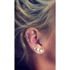 Double tragus piercing ❤ liked on Polyvore featuring pierce