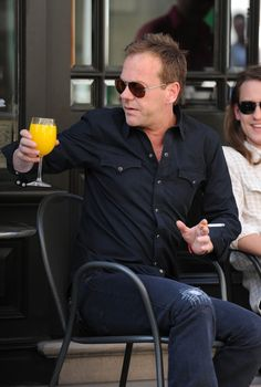 Kiefer Sutherland Ripped Jeans -
