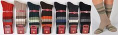 Marcoliani Men's Mid-Calf Luxury Cashmere Fun Stripe Socks from Italy - RARE- One Pair Merlot Mostly cashmere with a touch of nylon for durability. A thicker weight for excellent warmth and comfort. Machine wash cold fits shoe sizes 8-12. Order by 2 EST Ships Same Day. Marcoliani-the challenger that overthrew Pantherella.