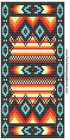 quilts or Beaded Wallet Pattern, Southwest Fire! Beading Patterns Free, Seed Bead Patterns, Peyote Patterns, Crochet Patterns, Beading Ideas, Jewelry Patterns, Free Pattern, Indian Beadwork, Native Beadwork