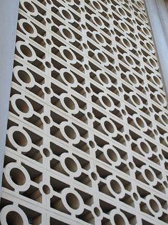 Like the idea of some retro brickwork in the backyard  concrete claustra - Lezarde project 2013