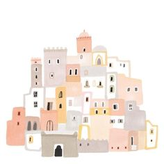 House Illustration Pattern Inspiration Ideas For 2019 Art And Illustration, Building Illustration, Illustrations, Grafik Design, Art Inspo, Watercolor Art, Simple Watercolor, Painting Abstract, Art Drawings