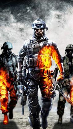 Battlefield 4 Dice Soldiers iPhone 5 Wallpaper