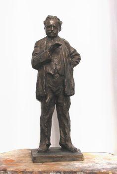 Leoš Janáček, bronze sculpture by Jaroslav Jurčák   Czech contemporary artist.