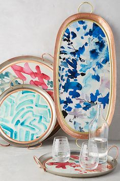 Morning Bouquet Tray - anthropologie.com