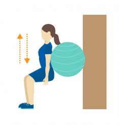 Exercise Ski Squat with Pilates Ball - Advanced Bridging Exercise Leg Exercises for Stroke Survivor Recovery Pilates, Balance Exercises, Leg Exercises, Stretches, Stroke Therapy, Neurological System, Stroke Recovery, Leg Training, Salud Natural
