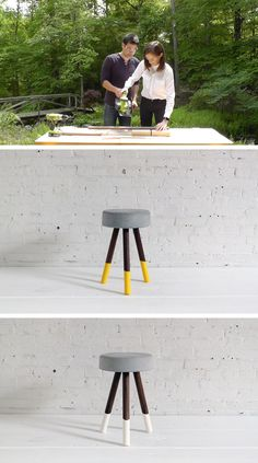 We made an improvement to the one of our earlier concrete stool project with Coco Rocha! Check out the site for details on some of the changes we made: http://www.homemade-modern.com/ep67-coco-rocha-bucket-stool/