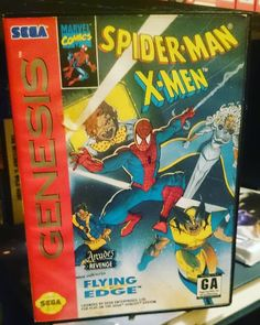 By timothymfisher: Spider-Man and the X-Men in Arcade's Revenge is a video game first released for the Super Nintendo in 1992 by LJN. It was later released for the Sega Genesis/Mega Drive and Game Gear (under the Flying Edge brand) as well as the Game Boy