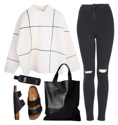 spooky by rocroyalzboo on Polyvore featuring polyvore, fashion, style, Topshop, Birkenstock and London Edit