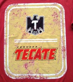 a7de2d208 NWT New$29 TECATE BEER/CERVEZA T-SHIRT Faded/Vtg-Look MENS MED  Red/Yellow/Black #TecateGAP #GraphicTee