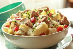 Rigatoni, Pasta Salad, Potato Salad, Potatoes, Ethnic Recipes, Foods, Diet, Red Peppers, Crab Pasta Salad