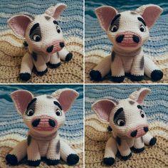 pua pig crochet amigurumi   moana / vaiana
