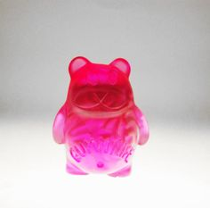"""Check out this Gummy bear with Brainssss in it. You can't eat this little guy titled """"Kirby Brains"""" but you can take him home with you. He is a little collectable toy that is available for only a limited time at www.CrummyGummy.com"""