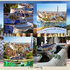 El parque Güell fue un encargo de Eusebi Güell que quería crear un parque de diseño para la aristocracia de Barcelona y fue inaugurado en 1922. El arquitecto fue inspirado por las formas de la naturaleza. El parque está cubierto por formas onduladas, columnas con aspecto de árboles, figuras de animales y formas geométricas. La mayor parte de las superficies están decoradas con mosaicos realizados con trocitos de cerámica de colores. #educacion