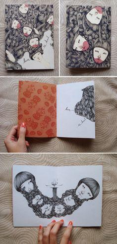 Hair is Dead Illustration by Jeannie Phan, via Behance Hair Illustration, Graphic Design Illustration, Sketch Journal, Fireflies, Mark Making, Art Sketchbook, Moleskine, Japanese Art, Sketchbooks