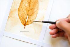 coffee painting tutorial by Inkstruck Studio