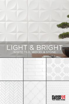 White is a timeless color choice for your home! Explore our selection of white tile, wood, and stone. Floor & Decor