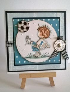 Lili of the valley(lotv) Handmade mens ,boy ,teen blue football birthday Card Happy Birthday Flower, Birthday Cards For Boys, Handmade Birthday Cards, Blue Football, Football Birthday, Football Soccer, Football Cards, Boy Cards, Kids Cards