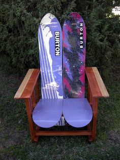 snowboard chair... Perfect since I have no use for my boards living where there are no mountains in sight!