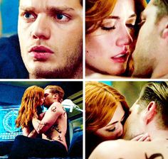 clary and jace finally kiss on their own terms again!!! clace is endgame♥️ // shadowhunters 2x19