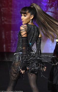 "Shine bright in a disco ball dress like Ariana's  Click ""Visit"" to buy #DailyMail"