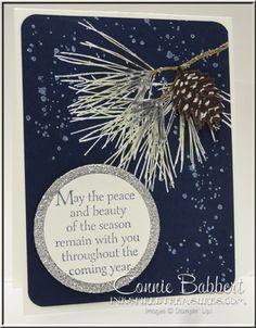 Ornamental Pine, pine cones, Stampin' Up!, Christmas, Embossing, #stampinup, Connie Babbert, www.inkspiredtreasures.com