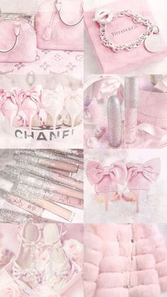 Baby pink mood board