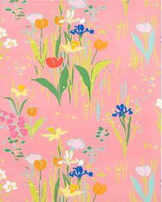 Brunschwig & Fils   Guermantes Pink Wallpaper