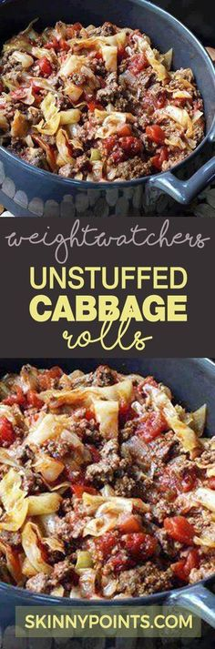 Unstuffed Cabbage Rolls come with only 3 weight watchers smart points (beef recipes for dinner healthy) Plats Weight Watchers, Weight Watcher Dinners, Weight Watchers Smart Points, Weight Watchers Soup, Weight Watchers Chicken, Weight Watcher Vegetable Recipes, Meals For Weight Loss, Losing Weight, Weight Watcher Recipes