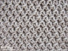 Purl-Twist Fabric stitch is not hard to knit and easy to remember. You'll want to use this stitch soon! Knitting Basics, Knitting Stiches, Crochet Stitches Patterns, Knitting Charts, Lace Knitting, Knitting Patterns, Knit Stitches, Charity Knitting, Knitting Terms