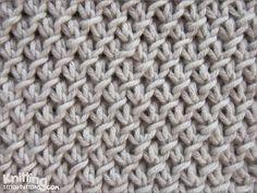 Purl twist stitch