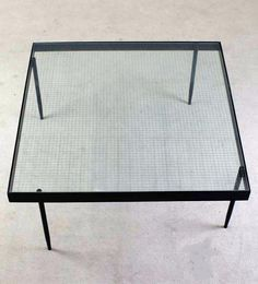 Janni van Pelt - Enameled Metal and Reinforced Glass Coffee Table for Bas van Pelt.