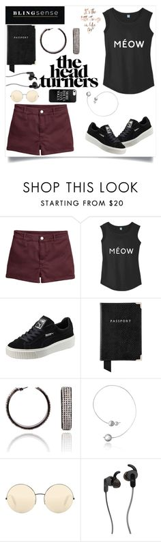 """""""blingsense"""" by maidaa12 ❤ liked on Polyvore featuring H&M, Puma, Aspinal of London, Victoria Beckham and JBL"""