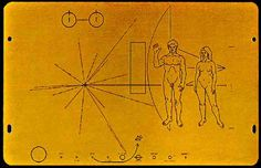 """the golden record images -Famous """"Voyager 1"""" spacecraft was launched by NASA on September 5, 1977. Despite its primary missions (to study the outer Solar System and interstellar medium) the spacecraft had another – to send a message to other life forms in the universe."""