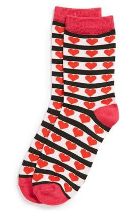 Capelli of New York Heart Print Ankle Socks (Juniors) on shopstyle.com