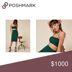 ISO: Reformation Moss Set Looking for green, specifically. Preferably NWT but will buy used for a good price. Size XS, maybe S. Dresses Midi