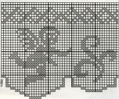 Filet Crochet, Thread Crochet, Crochet Angels, Crochet Curtains, Lace Trim, Cross Stitch Patterns, Needlework, Diy And Crafts, Embroidery