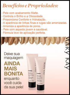 Mary Kay do Brasil Microdermoabrasao Mary Kay, Base Mary Kay, Mary Kay Brasil, Makeup Tools, Beauty Makeup, Lashes, Manicure, Foundation, Make Up